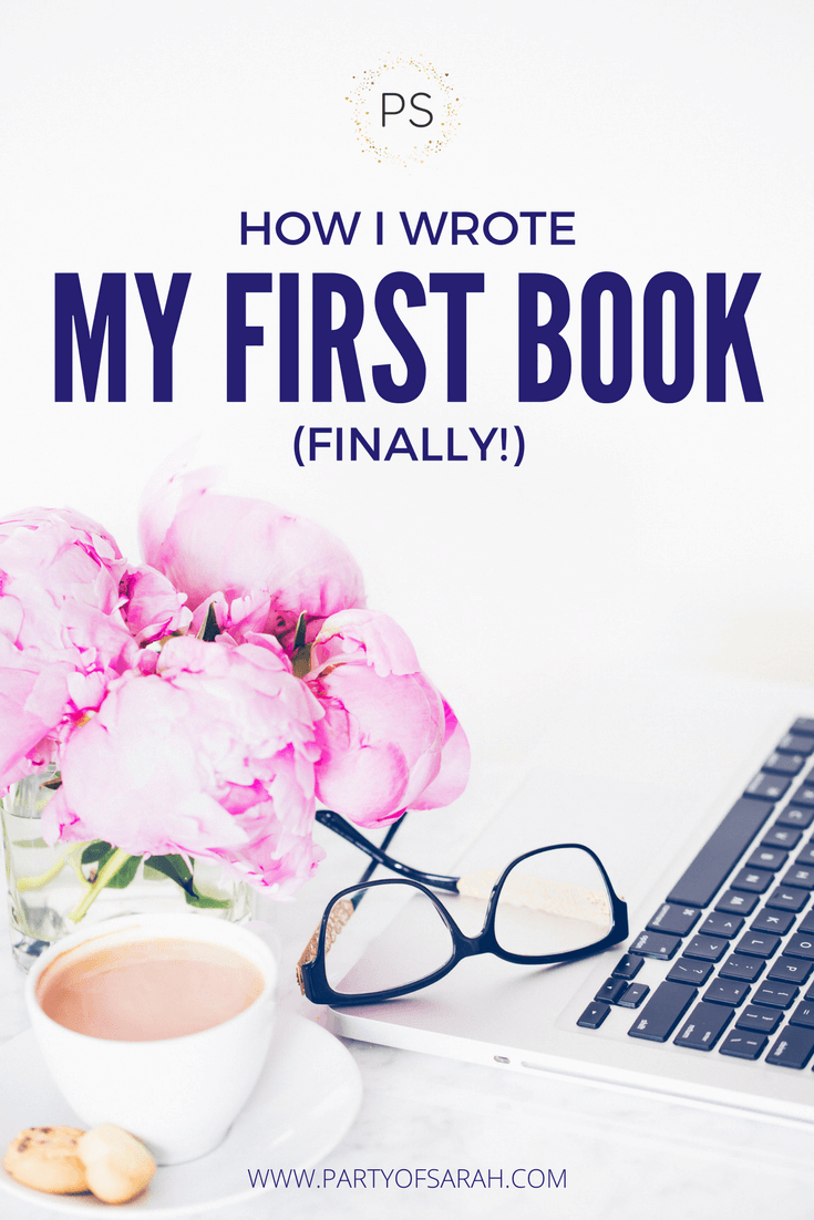 how to start writing my first book